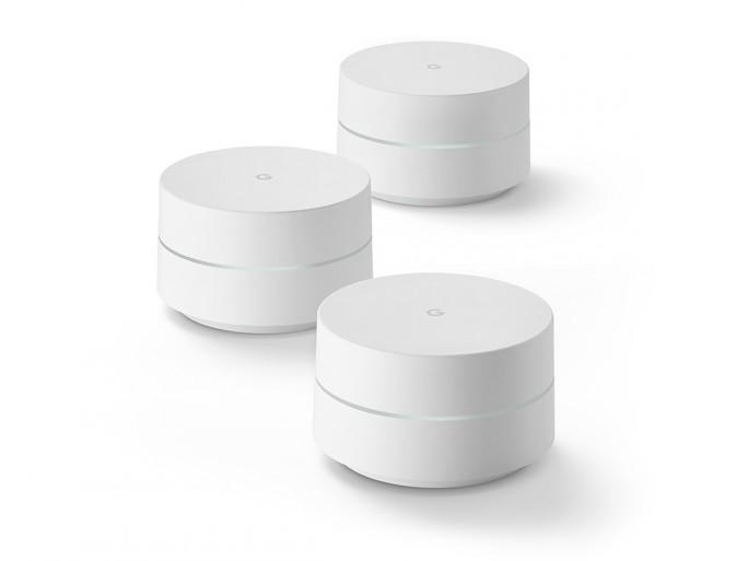 Bis zu maximal drei Google-WiFi-Geräte lassen sich zusammenschließen, um die WLAN-Abdeckung Zuhause zu verbessern (Bild: Google)