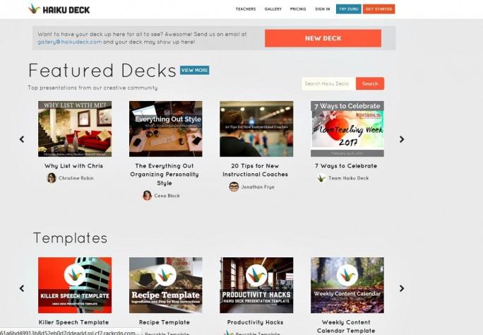 Haiku Deck bringt für Präsentationen laut Anbieter schon mehrere Millionen Fotos in der Datenbank mit. (Screenshot: Mehmet Toprak)