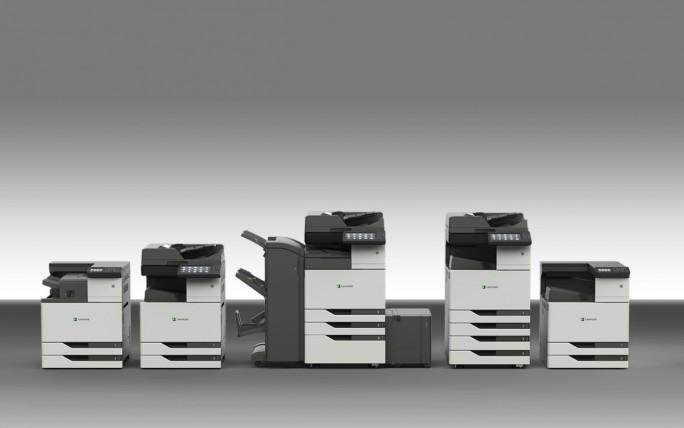 Die kürzlich vorgestellten, gründlich aktualisierten A3-Druckerfamilien von Lexmark sollen im Laufe des Jahres auch in Deutschland auf den Markt kommen. (Bild: Lexmark)