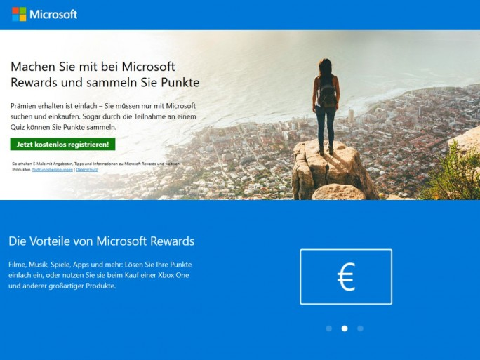 Microsoft Rewards (Screenshot: silicon.de)