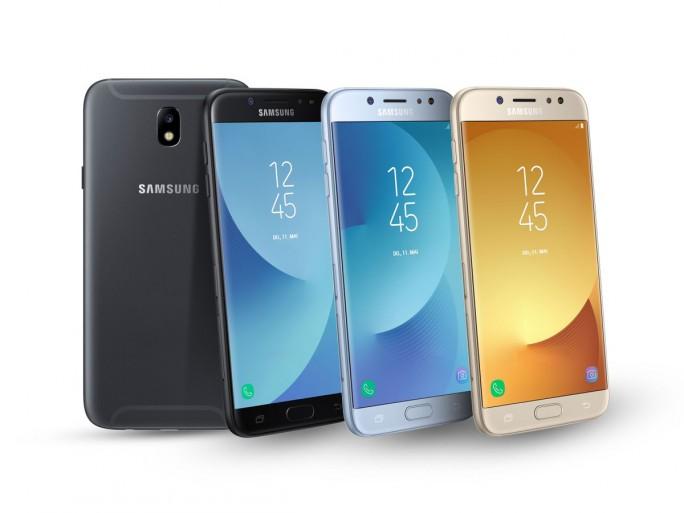 Smartphone-Reihe Galaxy J (2017) (Bild: Samsung)