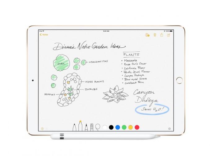 Das Display des iPad Pro 12,9 Zoll stellt 2732 mal 2048 Bildpunkte dar, das 10,5-Zoll-Modell erreicht 2224 mal 1668 Bildpunkte. (Bild: Apple)