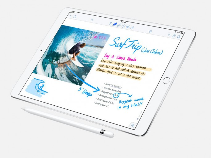 Eine ProMotion genannte Technik soll die Latenzzeit des Displays auf 20 Millisekunden reduzieren und so auch die die Bedienung mit dem Apple Pencil einfacher und flüssiger machen (Bild: Apple)