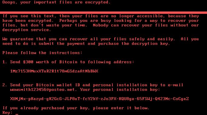 Die Lösegeldforderung der aktuell kursierenden Ransomware kann bereits nicht mehr erfüllt werden, da das angegebene Mail-Konto bereits gesperrt wurde (Screenshot: Emsisoft)