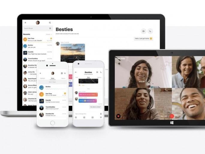 Skype neue Client-App 2017 (Bild: Microsoft)