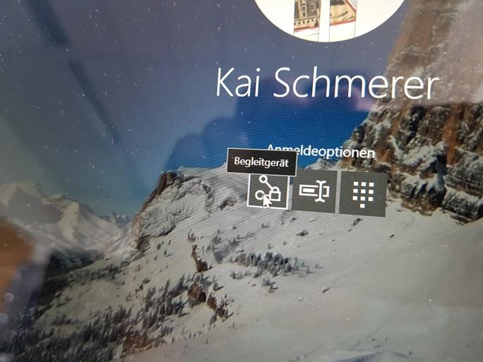 Samsung Flow: Anmeldung mit Galaxy S7 unter Windows 10 (Bild: ZDNet.de).