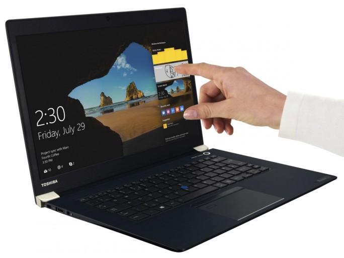 Die Business-Notebooks der Reihe Tecra X40-D bietet Toshiba auch mit kapazitivem Touch-Display an (Bild: Toshiba)