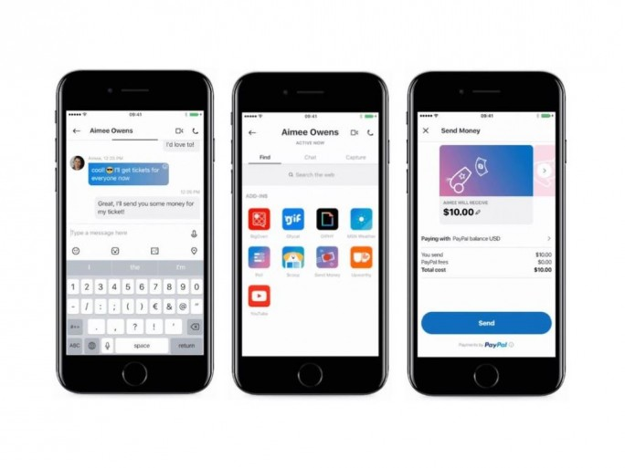 Skype hat den Bezahldienst PayPal in seine Android- und iOS-App integriert (Bild: Skype).