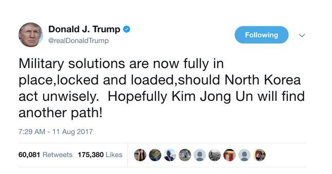 Brachte für die ehemalige CIA-Mitarbeiterin Valérie Wilson das Fass zum überlaufen: Trumps Droh-Twet gegen Nordkorea (Screenshot: silicon.de bei GoFundMe)