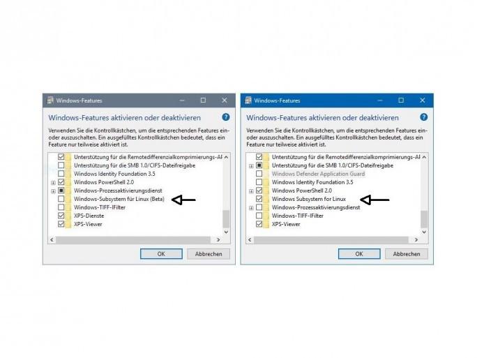 Das Windows Subsystem for Linux hat kein Beta-Zeichen mehr. (Screenshot: ZDNet.de)