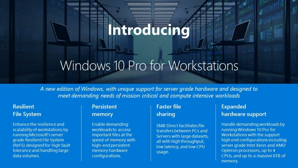 Eigene Windows-10-Version für Workstations — Microsoft
