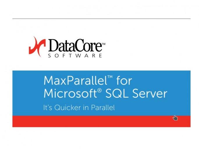 DataCore MaxParallel for SQL Server. (Bild: DataCore)