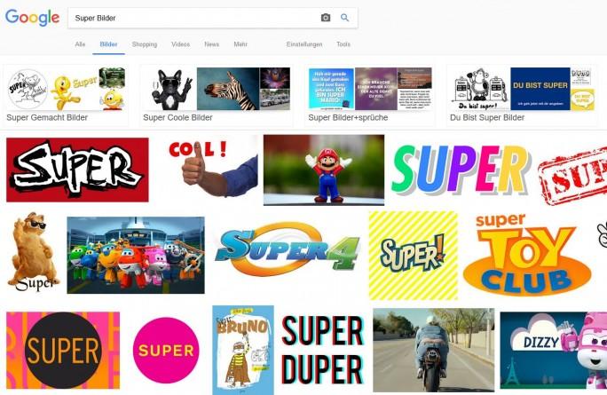 Laut BGH darf Google für die Anzeige von Bildern in seiner Bildersuche davon ausgehen, dass die gefundenen Dateien auf den Webseiten in Übereinstimmung mit dem Urheberrecht hochgeladen wurden. (Screenshot: silicon.de)