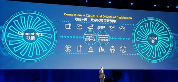 """Mit dem Ansatz """"Connection + Cloud"""" sollen die Digitalisierungsstrategie und Unternehmensnetzwerk-Lösungen intelligent miteinander verbunden werden. (Bild: Stefan Girschner)"""