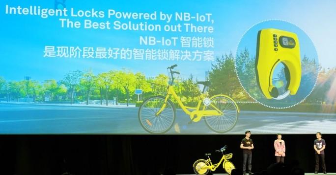 Das chinesische Startup ofo bietet Leihräder an und nutzt als Funknetz NB-IoT (Narrowband-IoT) von China Telecom und dazu passende Sendechips von Huawei. (Bild: Stefan Girschner)