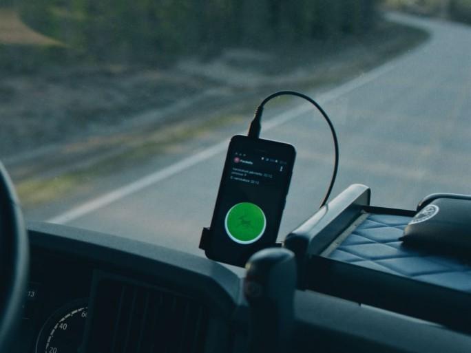 Über 1800 Berufskraftfahrer fungieren bei der App Porokello als Rentiermelder (Bild:  Paikkatieto Online Oy)