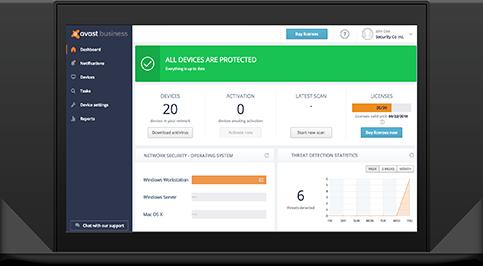 Avast Business bietet eine Verwaltung für Endgeräte in Unternehmen. (Bild: Avast)