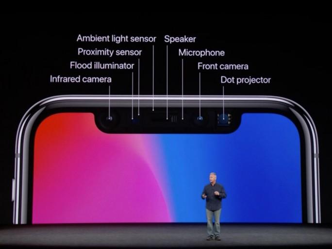Das iPhone X kommt mit zahlreichen Sensoren (Screenshot: ZDNet)