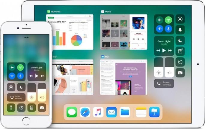 Das Kontrollzentrum von iOS 11 auf dem iPad und dem iPhone. (Bild: Apple)