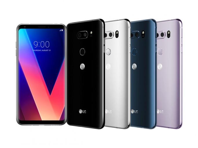 In Deutschland wird das LG V30 nur in den Gehäsuefarben Schwarz und Blau auf den Markt kommen. (Bild: LG)