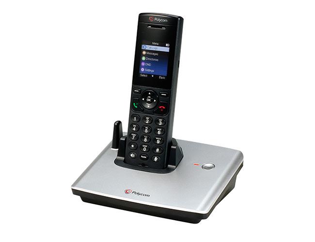 Das Polycom VVX D60 ist ein SIP-basiertes System für die drahtlose Kommunikation vor Ort (Bild:Polycom)