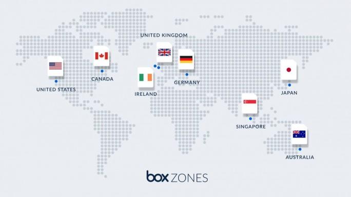 Box Zones ist derzeit in acht Rechenzentrums-Standorten verfügbar und wird dank der Partnerschaft mit Microsoft Azure bald auf weitere Regionen ausgeweitet. (Bild: Box)