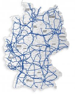 Gesamtnetz von 1&1 Versatel  (Grafik: 1&1 Versatel)