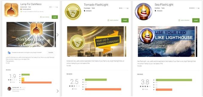 Einige der Apps der ersten Verbreitungswelle von BankBot (Grafik: Avast)