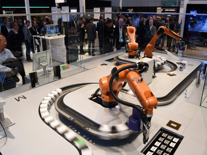 "Die ""Digital Factory"" auf der Hannover Messe. (Bild: Hannover Messe)"