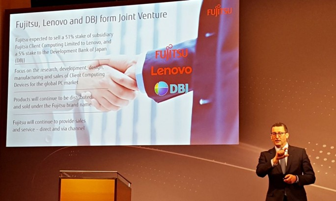 Duncan Tait, Corporate Executive Officer, bei Fujitsu, erklärte die Zielsetzungen des am 2. November unterzeichneten Joint Venture mit Lenovo.(Bild: Stefan Girschner)