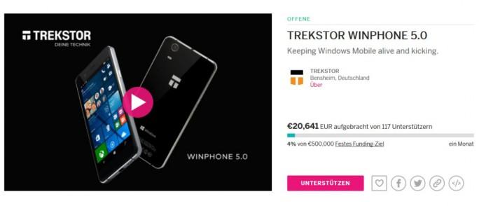 Die Crowdfunding-Kampagne läuft noch bis 17. Dezember, eienn Tag nach dem Start, sidn bereist über 20.000 Dollar zusammengekommen (Screenshot: silicon.de)