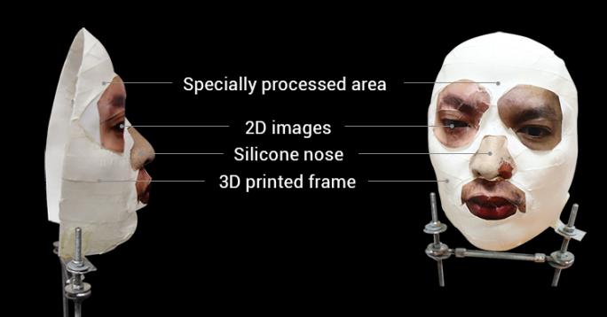 Zur Überlistung von Face ID verwendete Maske (Bild: Bkav)