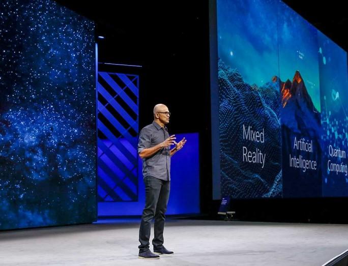Microsoft Satya Nadella auf der Ignite 2017 (Bild: Microsoft)