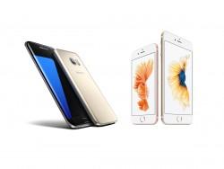 Smartphones von Apple und Samsung (Bild: ZDNet.de)