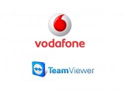 Vodafone und Teamviewer (Grafik: silicon.de)