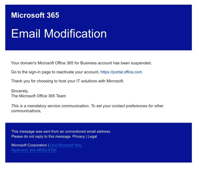 Office 365 Phishing (Screenshot: Barracuda-Networks)