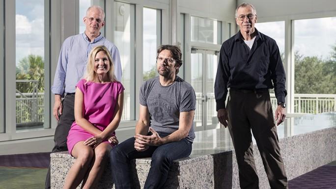 Charles Marcus, Krysta Svore, Leo Kouwenhoven und Michael Freedman leiten das Quantencomputer-Projekt bei Microsoft. (Bild: Brian Smale/Microsoft)