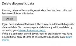 Build 19093 bietet nicht nur die Möglichkeit, diagnostische Betriebssystemdaten einzusehen, sondern diese auch zu löschen. (Bild: Microsoft)