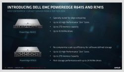 Die Single-Socket-Systeme PowerEdge R6415 und R7415 auf Basis von AMD EPYC. (Bild: AMD)