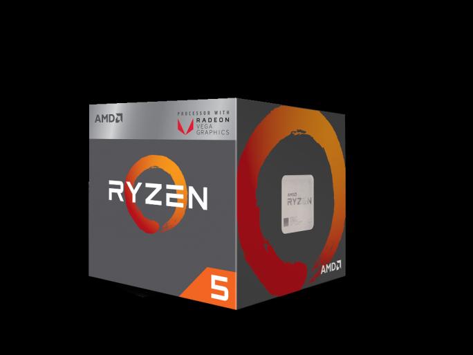 AMD Ryzen-CPU mit integrierter VGA-GPU.  (Bild: AMD)