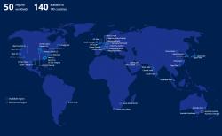 Microsoft schweigt sich noch über die Standorte der neuen Rechenzentren aus. Auf dieser Karte sind sie als Germany North und als Germany Central (geplant und bereits vorhanden) eingetragen. (Bild: Microsoft)