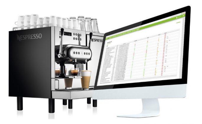 Diese Nespresso-Kaffeemaschine bestellt dank einer IoT-App von Lyreco ihre Pads selbst, wenn sie zur Neige gehen. (Bild: Nespresso)