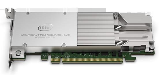 Intel Programmable Acceleration Card (PAC) mit Intel Arria 10 GX FPGA. (Bild: Intel)