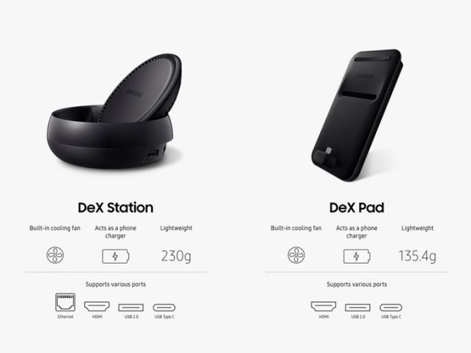 Samsung Dex Station und Dex Pad. (Screenshot: ZDNet.de)