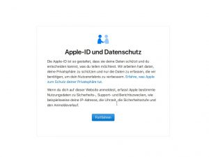 Apple-Datenschutz-Login (Screenshot: silicon.de)