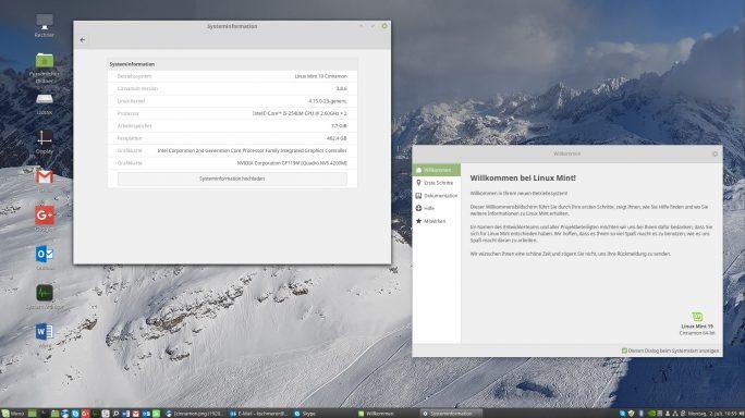 Linux Mint 19 Cinnamon Tara (Bild: ZDNet.de)
