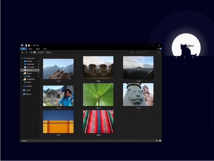 Dark Theme des Datei-Explorers (Bild: Microsoft)