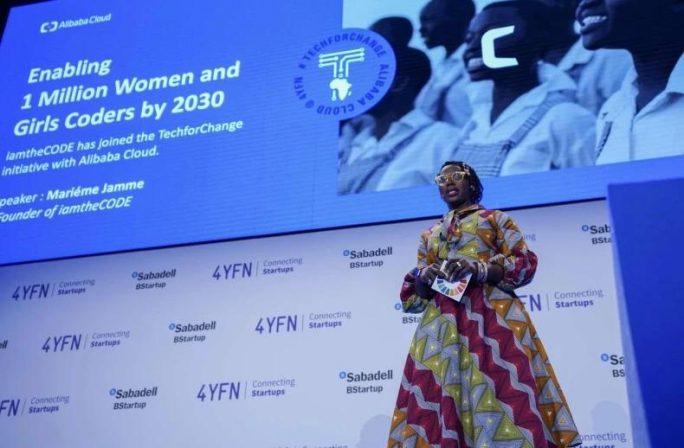 """""""Dies ist ein historischer Moment"""": iamtheCODE hat eine Partnerschaft mit Alibaba Cloud verkündet, die bis zum Jahr 2030 eine Million Frauen und Mädchen in der IT unterstützen soll. (Bild: Alibaba)"""