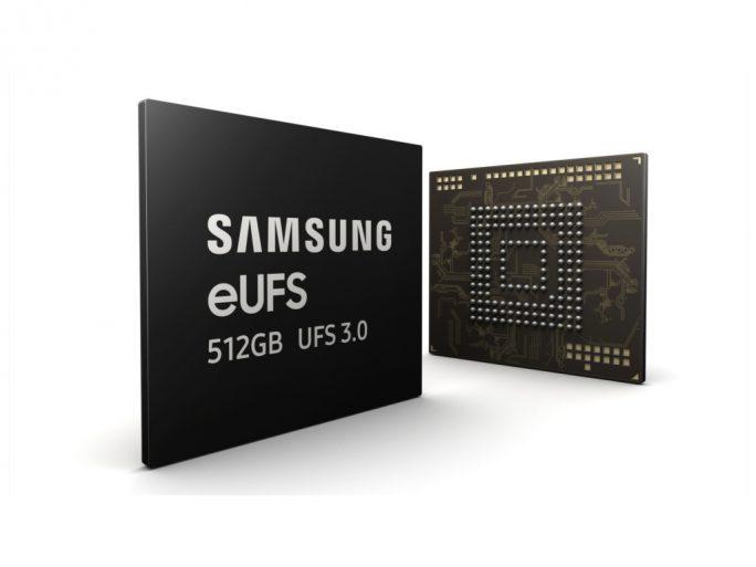 Samsung eUFS 3.0 mit 512 GByte Kapazität (Bild: Samsung)