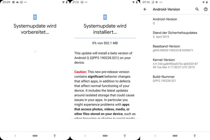 Android Q Beta 2 (Screenshot: ZDNet.de)
